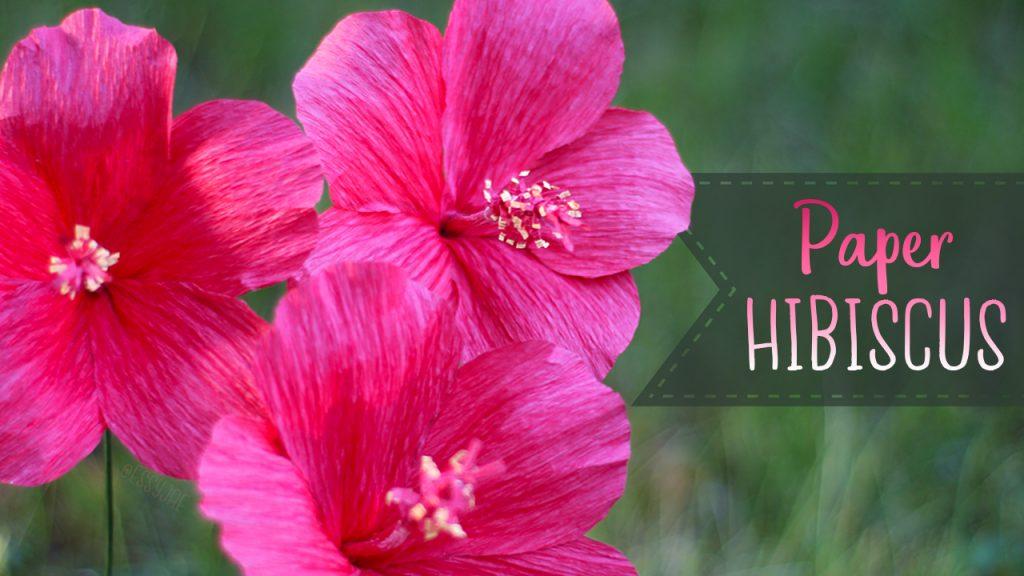 Crepe Paper Hibiscus Flower Tutorial Essyjae