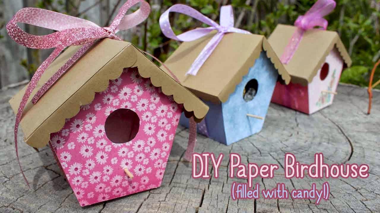 Paper Birdhouse Tutorial