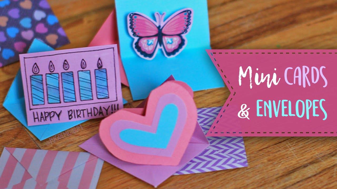 mini greeting card  envelope tutorial  essyjae