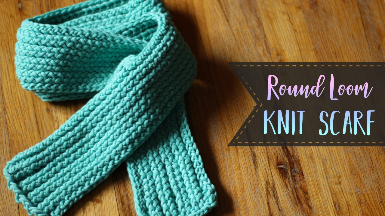 how to use a round knitting loom