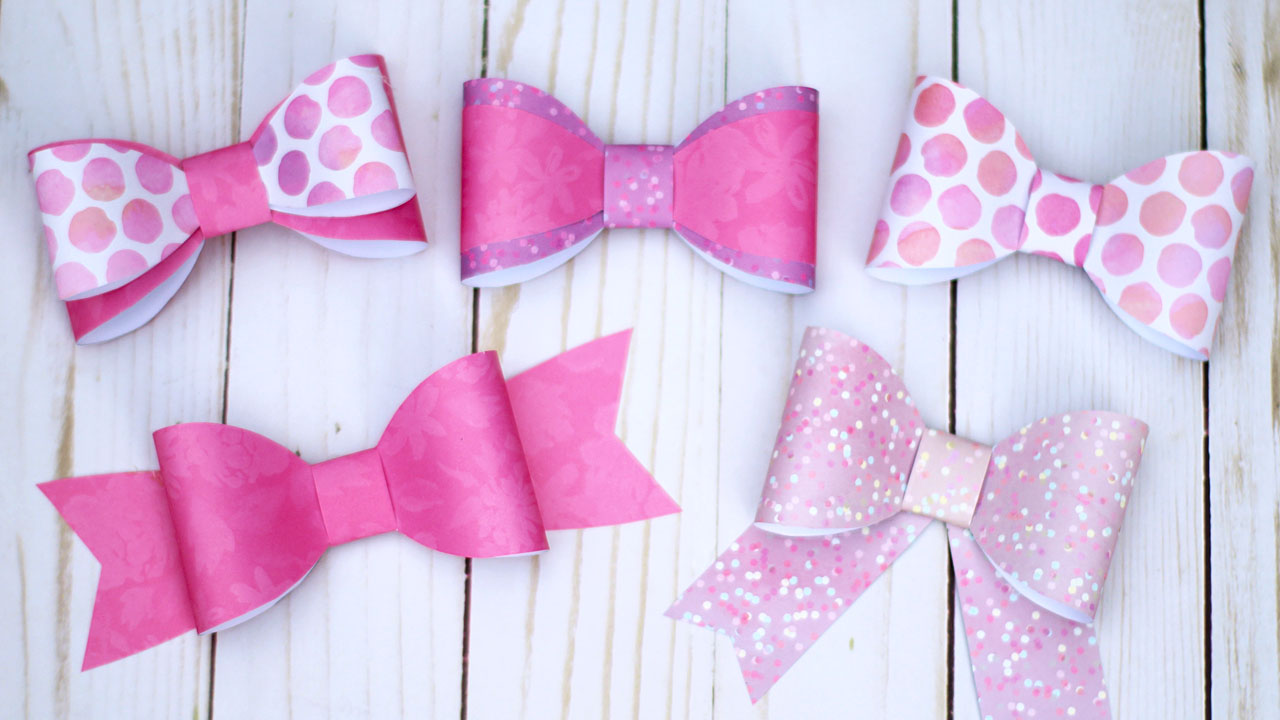 Diy paper bow tutorial 5 bows with 1 template essyjae paper bow template and tutorial maxwellsz